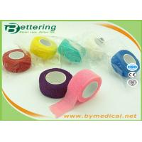 Quality Non Woven Elastic Cohesive Bandage For Finger , Self Adherent Bandage Wrap wholesale