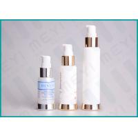 Quality Silkscreen Printing PP Cosmetic Pump Bottle Airless Dispenser Bottles With SAN Cap wholesale