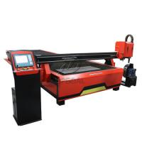 Quality 2060 CNC Steel Sheet & Steel Pipe Plasma Cutting Drilling Machine with Rotary Axis/200A Hypertherm Plasma Power Supply wholesale
