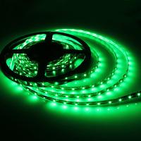 China 3528 Waterproof Green SMD Flexible Led Strip Lights 12V 72W / reel with White Board on sale