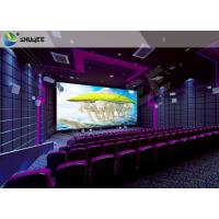 Quality High Definition  Sound Vibration Cinema With Big Screen Dual Projectors wholesale