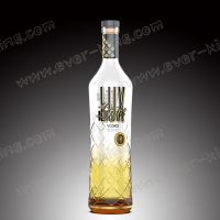 China Custom Premium Quality Small Capacity Delicate Transparent Glass Bottle on sale