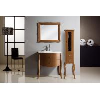 Quality Red Wine color Traditional Bathroom Vanities mirrored Stainless steel soft hinges wholesale