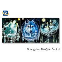China Depth Effect 3d Picture Of Animal Wolf , Changing Flipped 3d Picture on sale