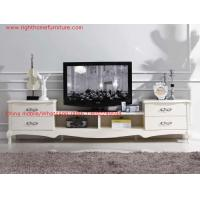 Quality Ivory Classic TV stand wood furniture Audiovisual cabinet in White matt PU painting wholesale
