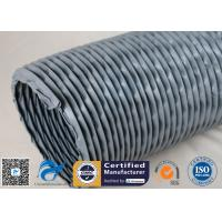 China PVC Coated Fiberglass Fabric Waterproof Flexible Ventilation Air Duct 200MM 260℃ on sale