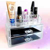 Quality Cosmetic Custom Acrylic Products Multiple Display Makeup Box Case With Drawers wholesale