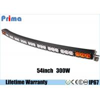 Quality IP67 300w Amber White Curved Light Bar / 27000lm 54 Inch Single Row LED Light Bar wholesale
