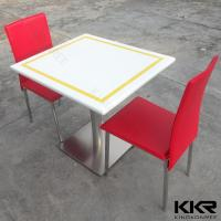 Quality Artificial Marble Resin Solid Surface Table for Cafateria Stain Resist wholesale