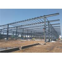 China Low Cost Large-Span Prefabricated Light Steel Structure Frame Warehouse Building Construction on sale