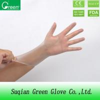 China Clear Disposable P Free Vinyl Gloves / non sterile surgical gloves on sale
