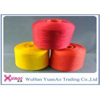 China Virgin Ring Spun Polyester Dyed Yarn For Sewing Thread , Red Yellow on sale