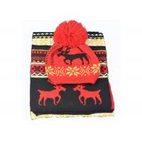 Quality Acrylic Xmas Themed Warm Winter Accessories Scarves Set Custom For Adults wholesale