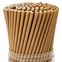 Quality Natural Brown Decorative Paper Drinking Straws Durable Water Resistant wholesale