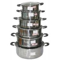 Quality Stainless Steel Tableware with Glass Cover wholesale