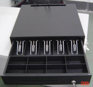Black Color Finish Metal Mini Cash Register Drawer Lock Box For POS Systems