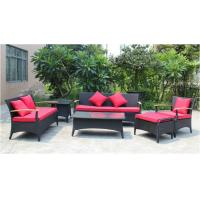 China 6 piece -Outdoor Rattan Furniture teak wooden 3/2/ single sofa coffee table end table-YS5737 on sale