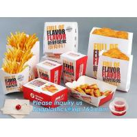 China Custom 100% food grade burger box with logo,Food grade good quality cardboard paper box,Disposable plastic package color on sale
