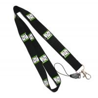 Quality Black Detachable Cell Phone Neck Lanyard With Silk Screen Print Logo wholesale