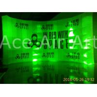 Cheap custom free standing inflatable curve wall with logo for advertising and exhibition for sale