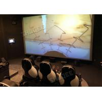 Quality Professional 5D Cinema System With Large Screen , Black Leather Seats wholesale