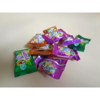 Cheap Orange Red / Green / Yellow Bubblegum Chewing Gum Candies QS Certification for sale