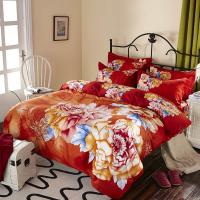 Quality Luxury 9 Pieces Home Bedding Comforter Sets Double Full Size Red Color wholesale