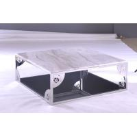 Quality Stainless Steel with Artifiail Marble Solid Surface Modern Square Coffee Tables for Office wholesale