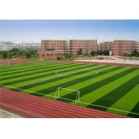 Quality Less Infill Fitting Artificial Grass , Ball Rolling Soccer Artificial Turf wholesale