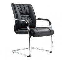 Buy cheap Genuine Leather Office Furniture Reception Desk Chair No Wheels Office Furniture product