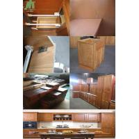 Cheap solid wood kitchen cabinets of jieke wood for Cheap solid wood kitchen cabinets