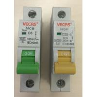 Buy cheap 6KA Household Circuit Breaker / MCB Overload And Short Circuit Protection from wholesalers