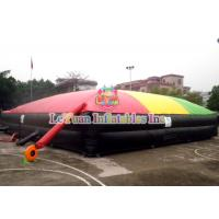 Quality 055mm Tarpauline Inflatable Sport Games / Jump Air Bag For Snowboard wholesale