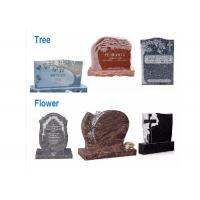 Quality Various Shape Granite / Marble Headstones For Graves , Angel Headstones For Graves wholesale