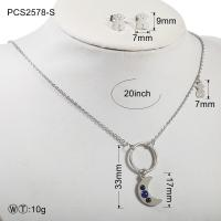 Quality 20g Stainless Steel Silver Plated Jewellery Set for Anniversary wholesale