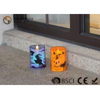 Quality Lovely Halloween Flameless Candles , Led Halloween Candles 100 / 180 / 375g wholesale