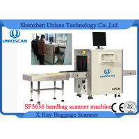 Quality High Resolution Security X Ray Scanner , Small Baggage Scanning Machine With Roller Shelf wholesale