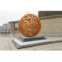 Quality Abstract Large Modern Outdoor Sculpture , Contemporary Ball Garden Sculptures wholesale