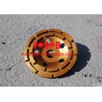 Quality Double Row Diamond Grinding Cup Wheel for grinding concrete / 7 inch diameter wholesale