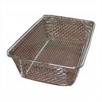Quality Food grade Woven Wire Metal Wire Basket , Stainless Steel Wire Mesh Baskets wholesale
