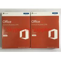 Buy cheap Genuine Microsoft Office Home And Business 2016 For Mac 32 / 64 Bit COA Sticker from wholesalers