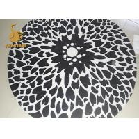 China New 3D Printing Soft Chenille Polyester Material Non-slip Round Entrance Rugs on sale
