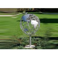 Quality Decorative Stainless Steel Sculpture With Semi - Meridian Globe Shape wholesale