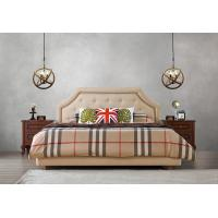 Cheap American style Good quality Gery Fabric Upholstered Headboard Queen Bed Leisure for sale