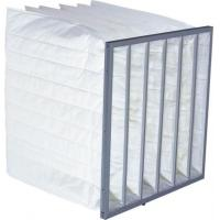Quality Large Rated Air Flow Pocket Air Filter AL Alloy / Gal Frame Hot Melt Sealant wholesale