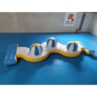 Quality 0.9mm PVC Tarpaulin Inflatable Water Park Crazy Water Games 3 Caps wholesale