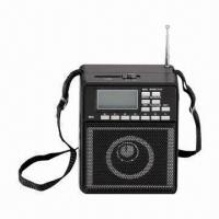 China FM Radio with USB/SD, 1,200mA Built-in Rechargeable Battery, 3-inch Speaker and Flashlight on sale