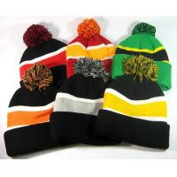 Quality Fox Fur Women Knit Pom Pom Beanie Keep Warm Embroidered 3D Logo Available wholesale
