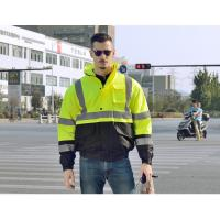 Buy cheap 100 % polyester 300D oxford hi vis safety jacket winter waterproof reflective from wholesalers