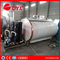 Quality Horizontal 200L Stainless Milk Cooling Tank Trailer Safety Prevents Bacteria From DYE wholesale